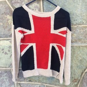 Forever 21 Union Jack flag knit sweater